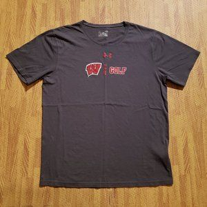 Wisconsin Badgers Golf Under Armour Gray Shirt L